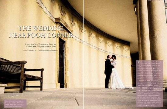Magazine feature of a Stowe House Wedding