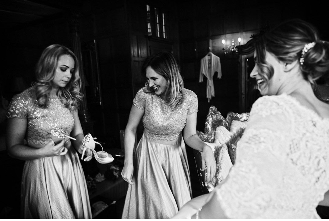 The Bride's finishing touches before the ceremony