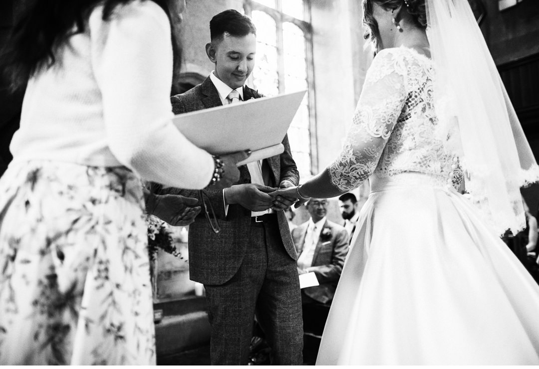 Exchanging of the rings at Hengrave Hall