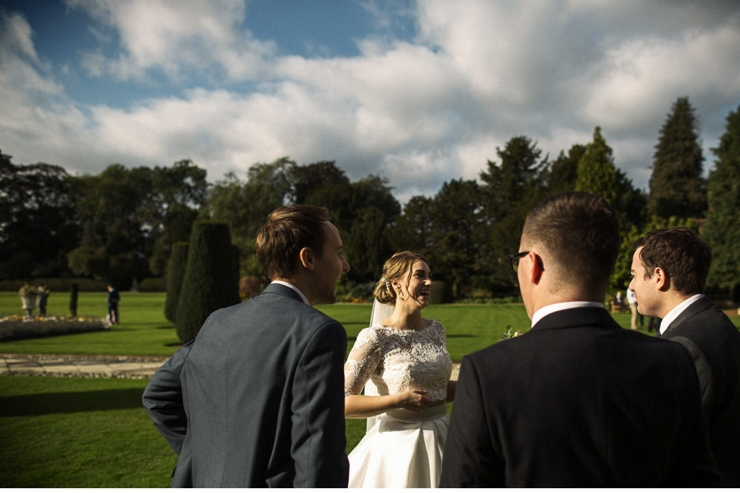 The bride at Hengrave Hall