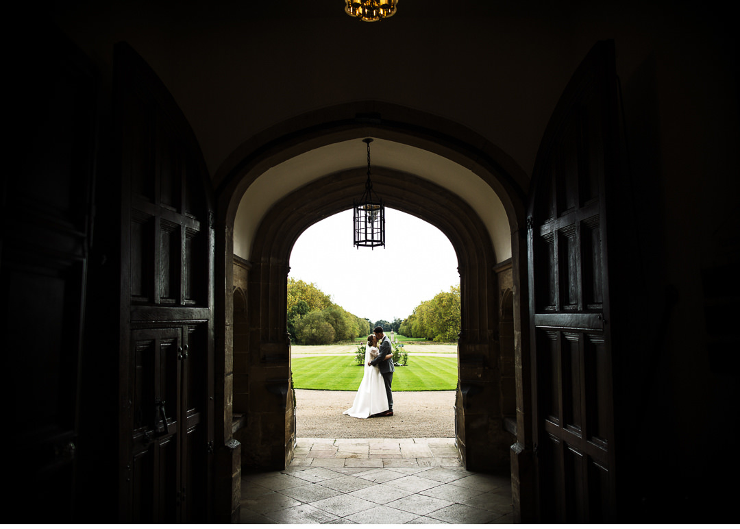 Just married at Hengrave Hall