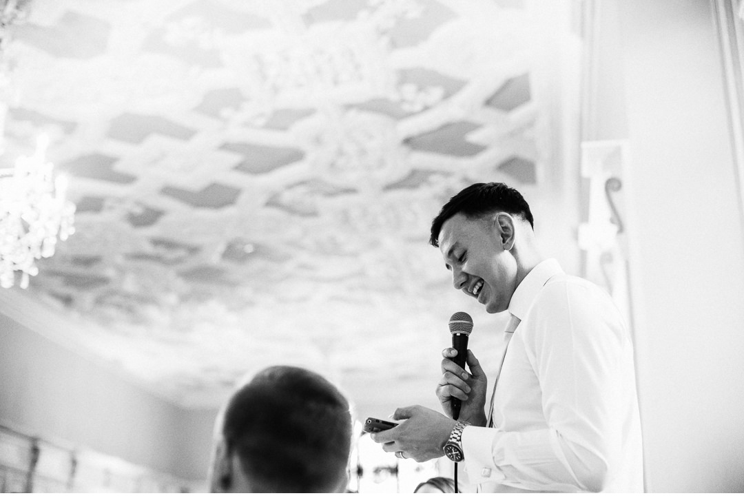 The Groom's speech at Hengrave Hall