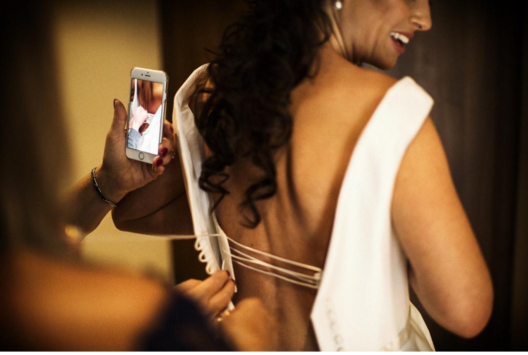 A quick shot of the wedding dress