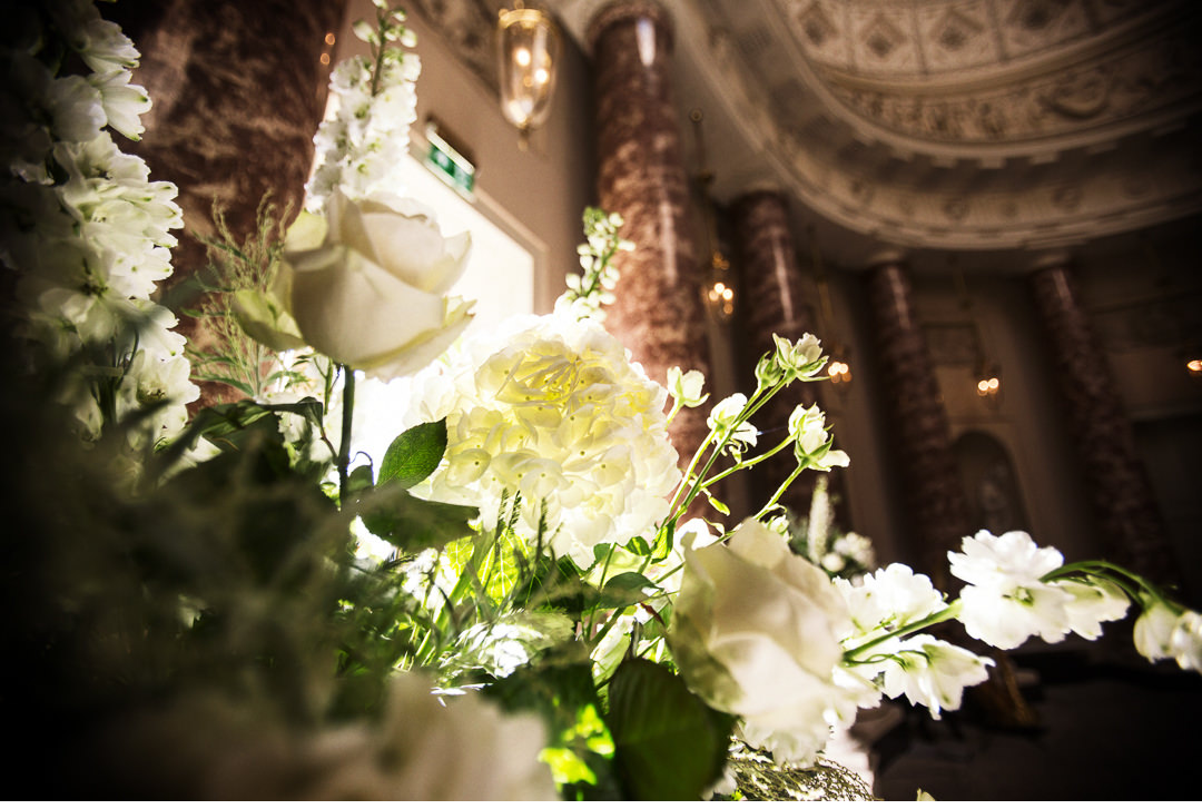Flowers at Stowe House wedding