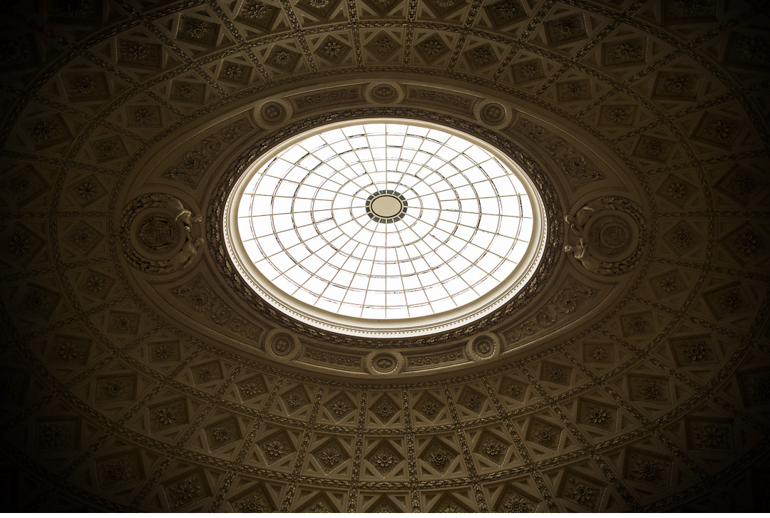 The dome of the Marble Saloon at Stowe House