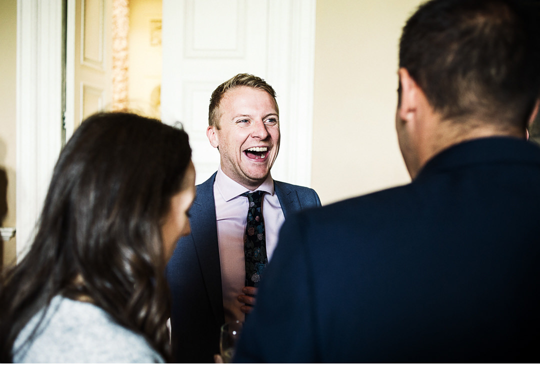 Having a giggle before the ceremony