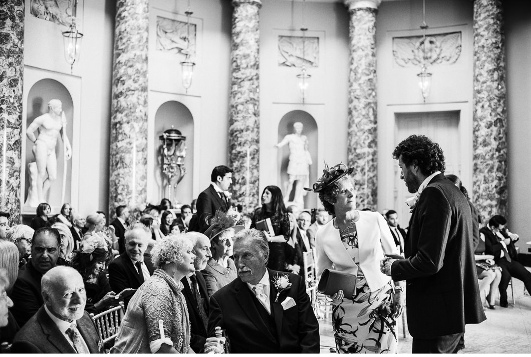 Guests at Stowe House wedding