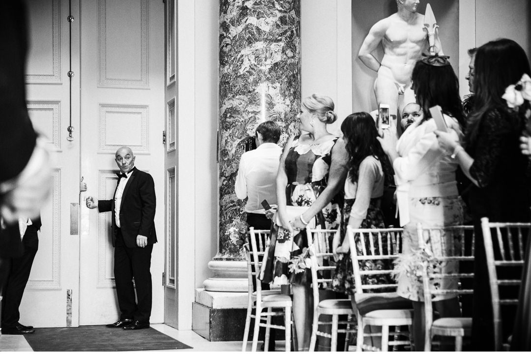 Opening the doors for the arrival of the Bride