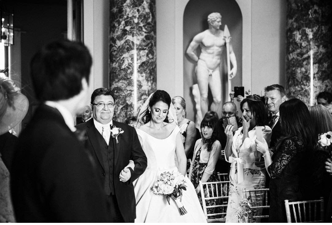 Bride and Father of the Bride walking up the aisle