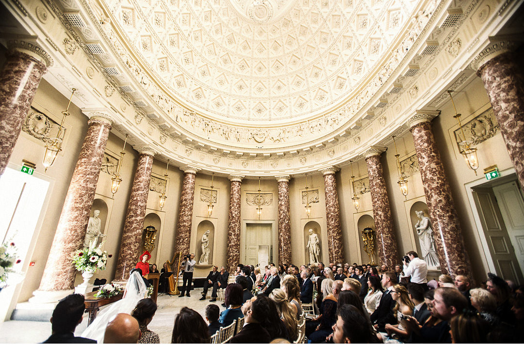 Stowe House Wedding ceremony - The marble saloon