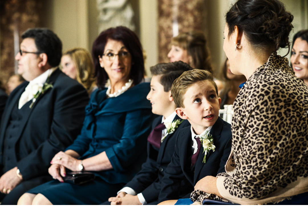 Inquisitive look from a pageboy
