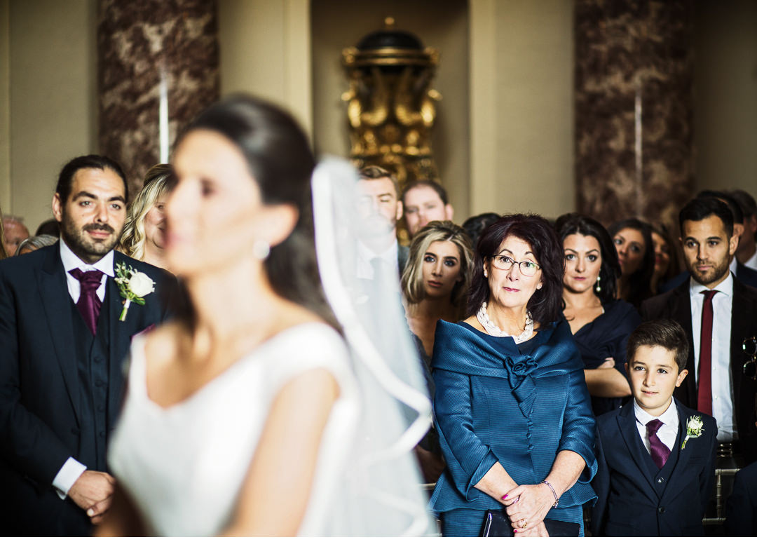 Mother of the Bride watching her daughter getting married
