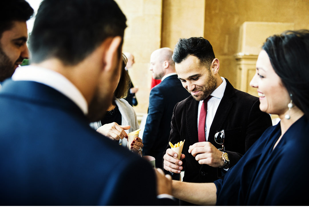 Fish and Chips at Stowe House Wedding