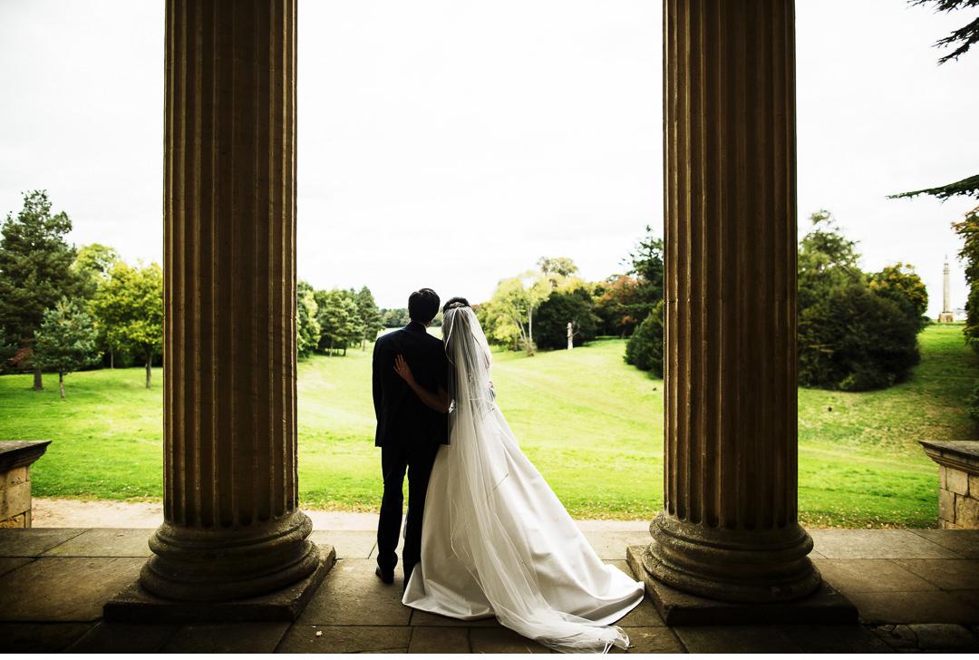 Stowe House posed wedding shot