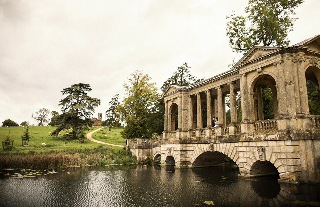 Stowe House Palladian Bridge Wedding shoot