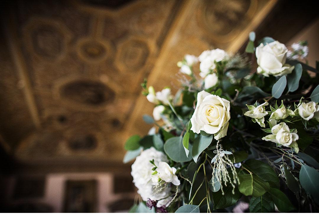 Gorgeous flower arrangements at Stowe House
