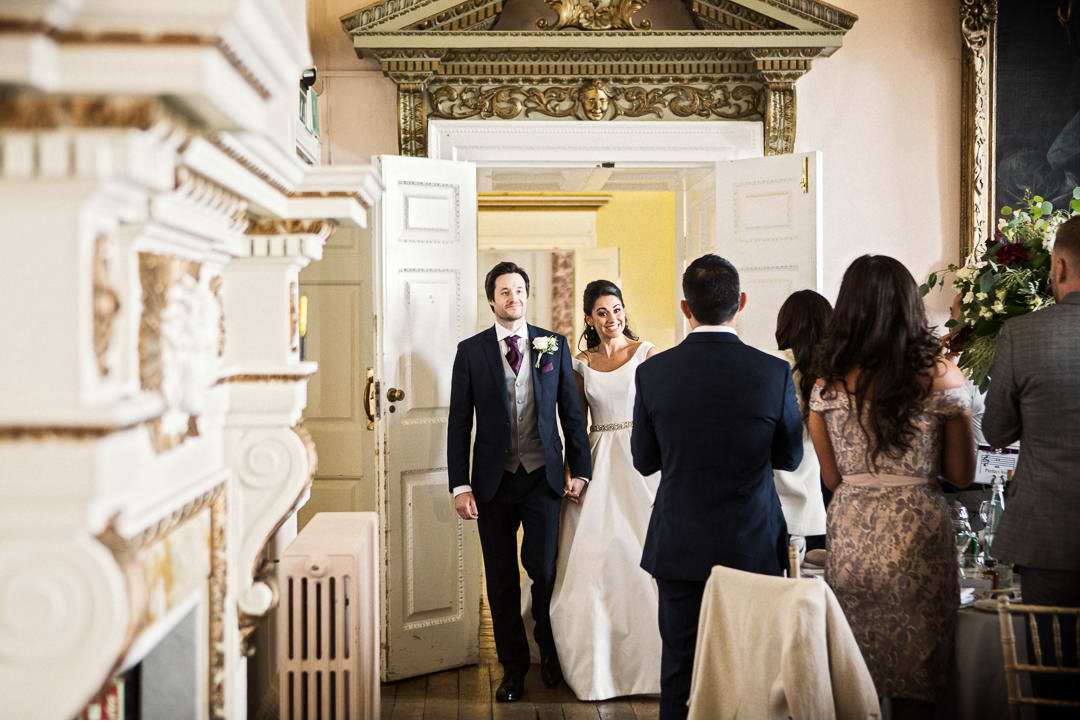 The entrance of the couple at Stowe House