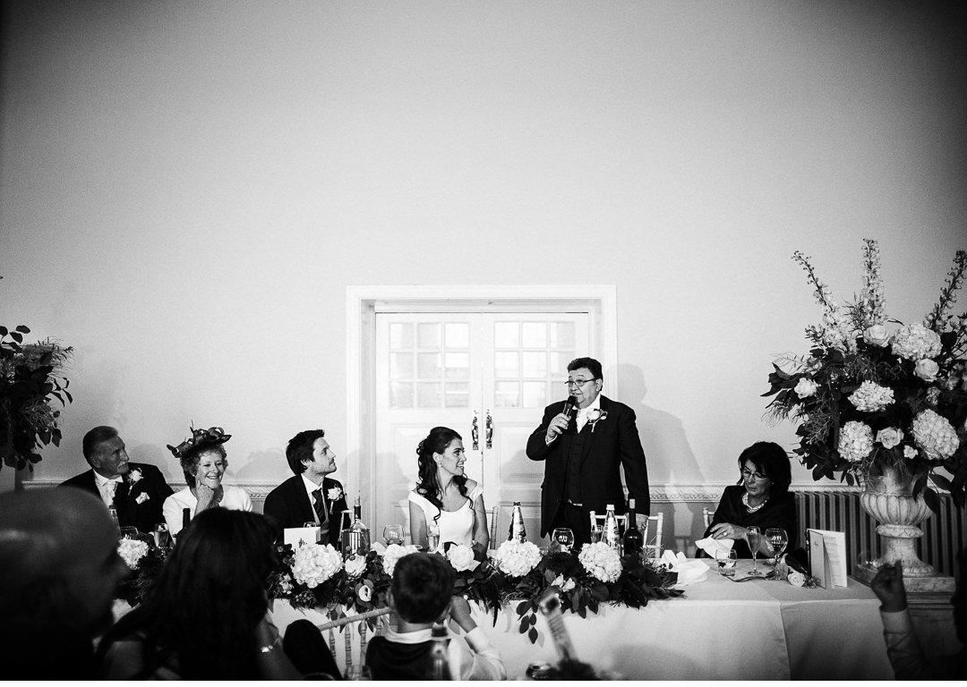The Father of the Bride's speech - Stowe House Dining Room