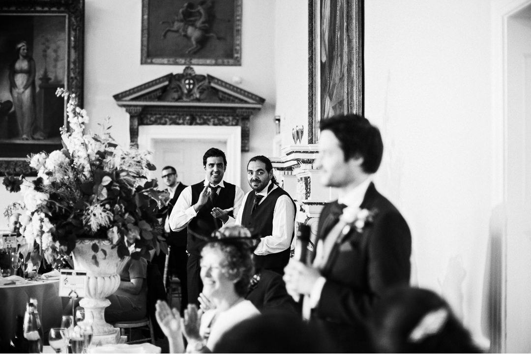 The Groom's speech at Stowe House