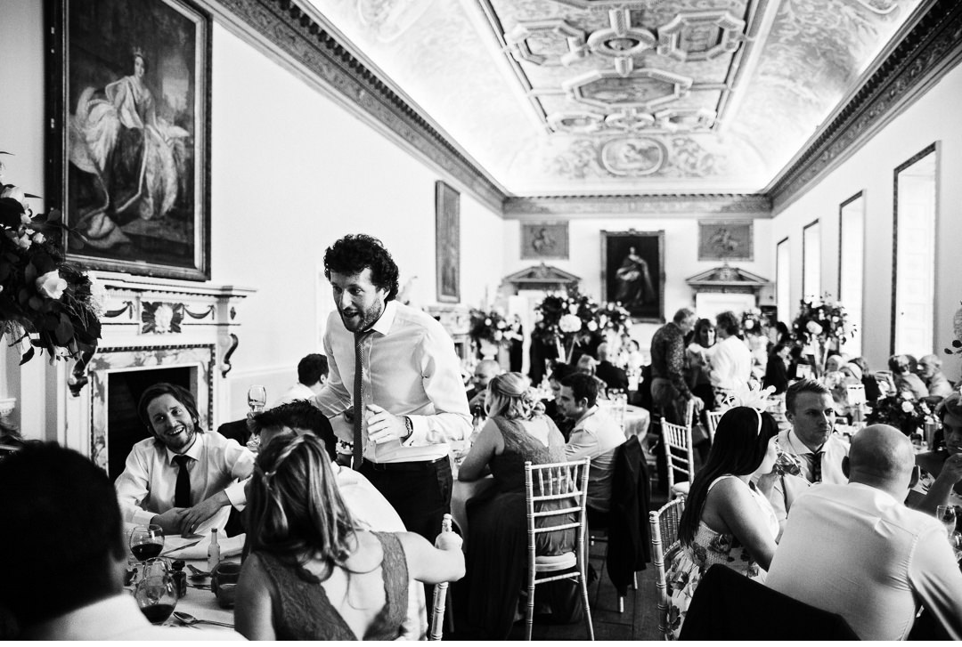 Guests mingling and having fun during the Wedding Breakfast