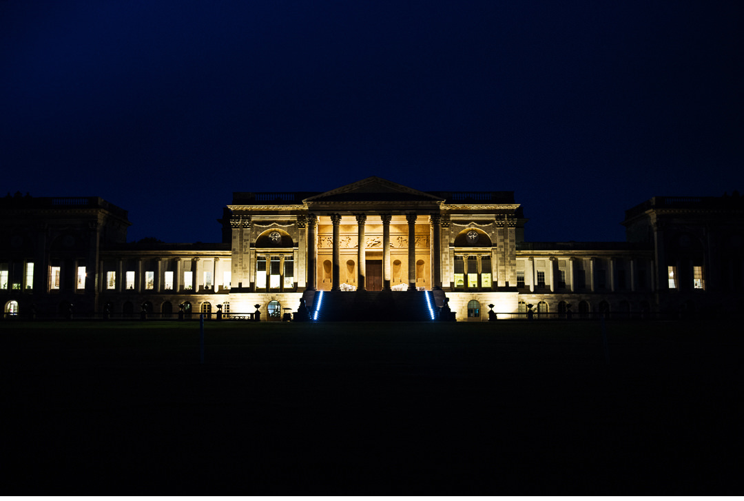 Stowe House South Portico - Night shot