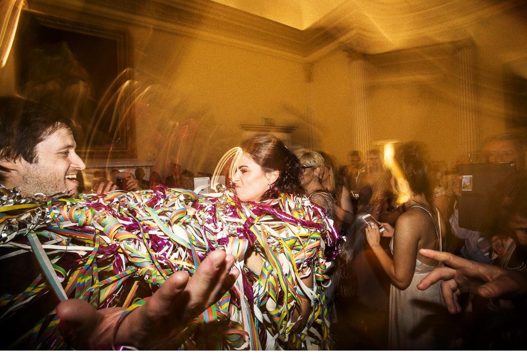Having fun at Stowe House wedding