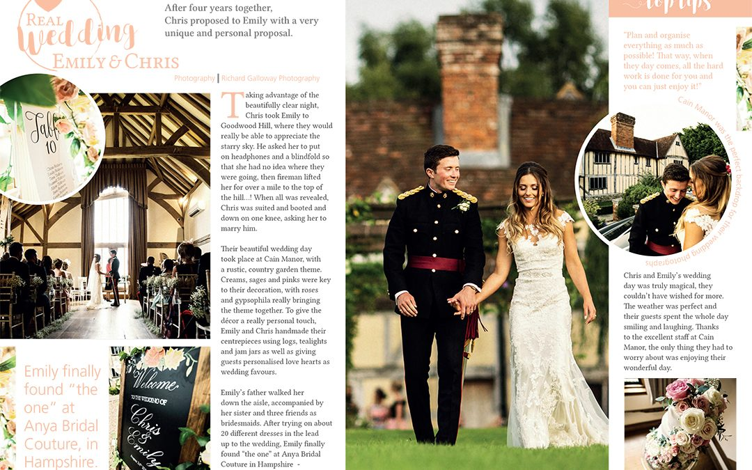 Featured in Guides for Brides annual magazine