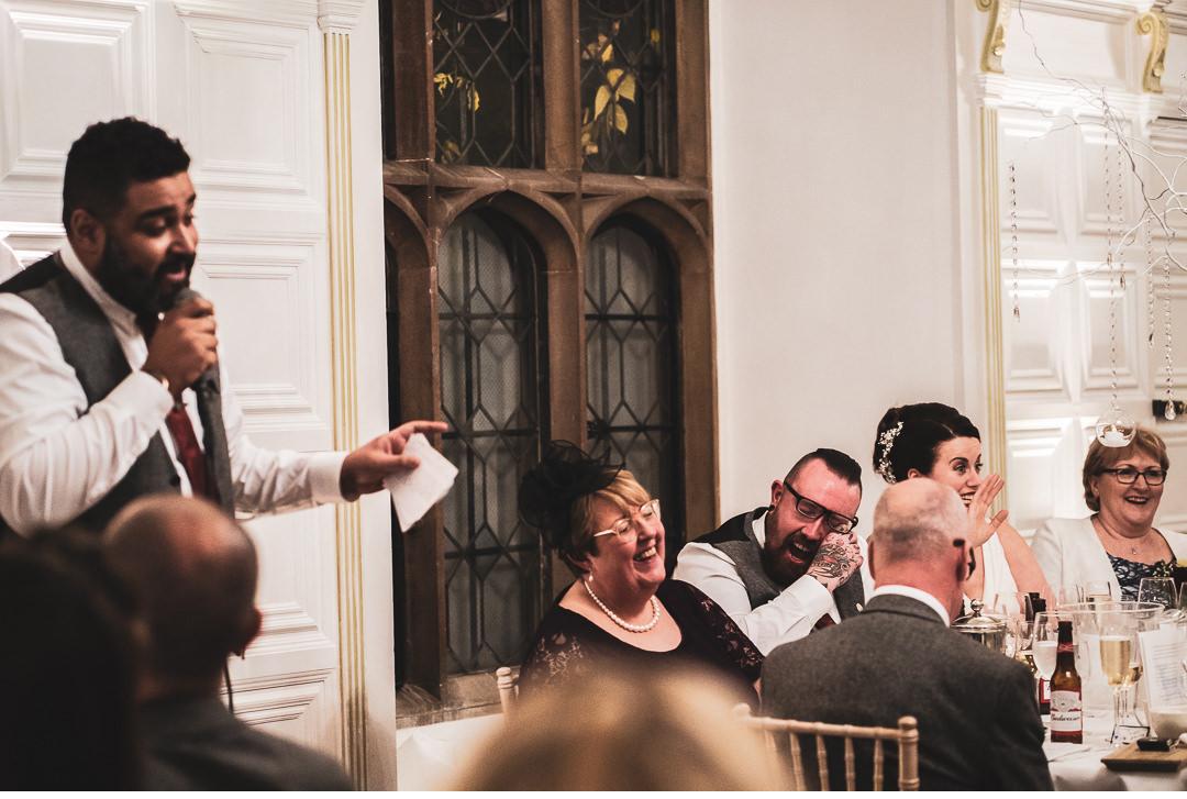 Reactions during Best Man's speech