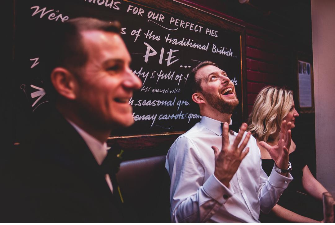 pre-wedding pub drinks