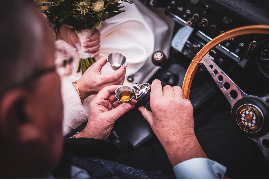 Whiskey for wedding nerves