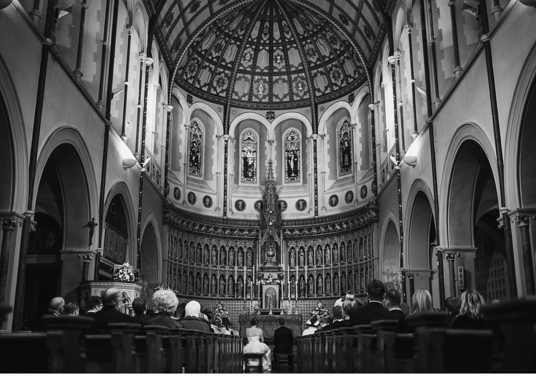 a wedding ceremony at st aloysius in Oxford