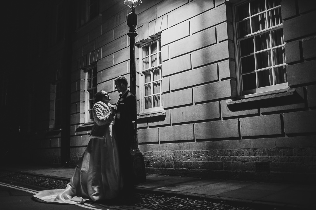 Oxford town night wedding shoot