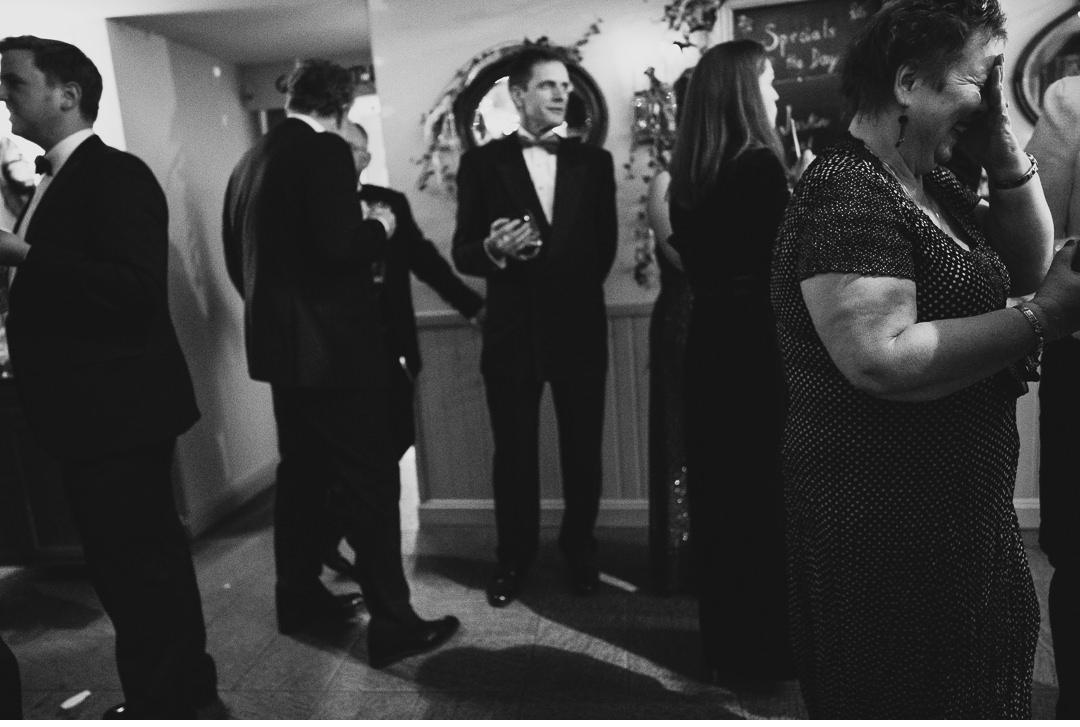 Having a laugh at wedding reception