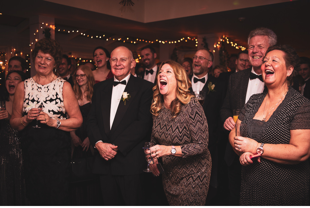 Reactions to the wedding speeches