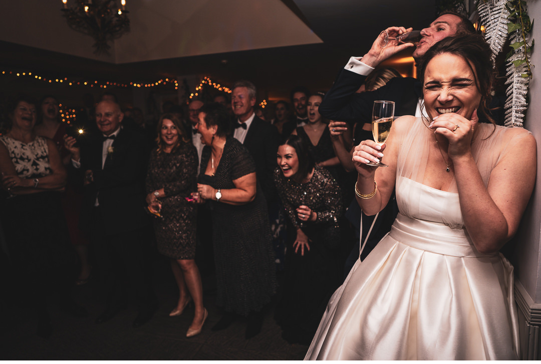 Bride and Groom's reaction to wedding speeches