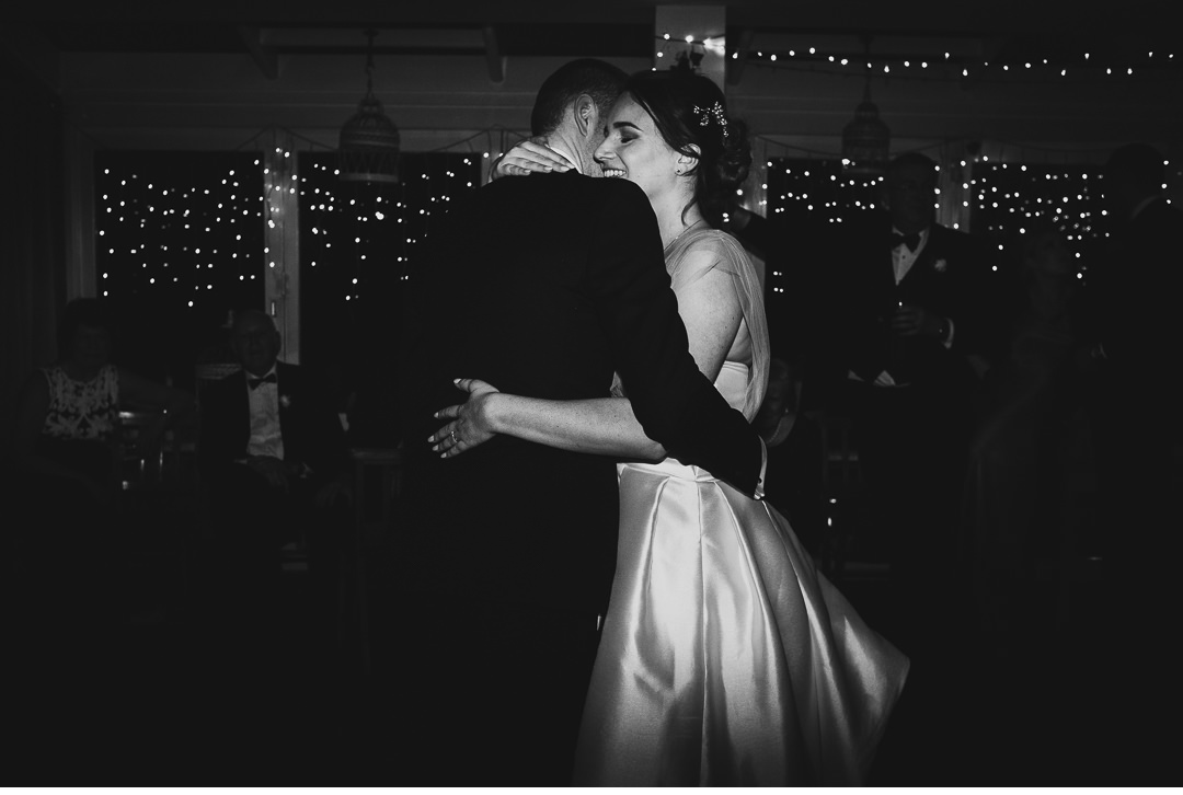 Wedding first dance at the Folly Restaurant in Oxford