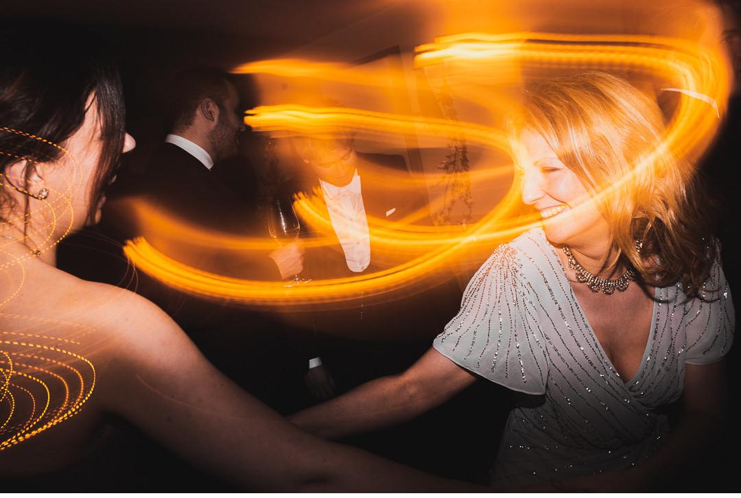 Wedding party shutter dragging effect