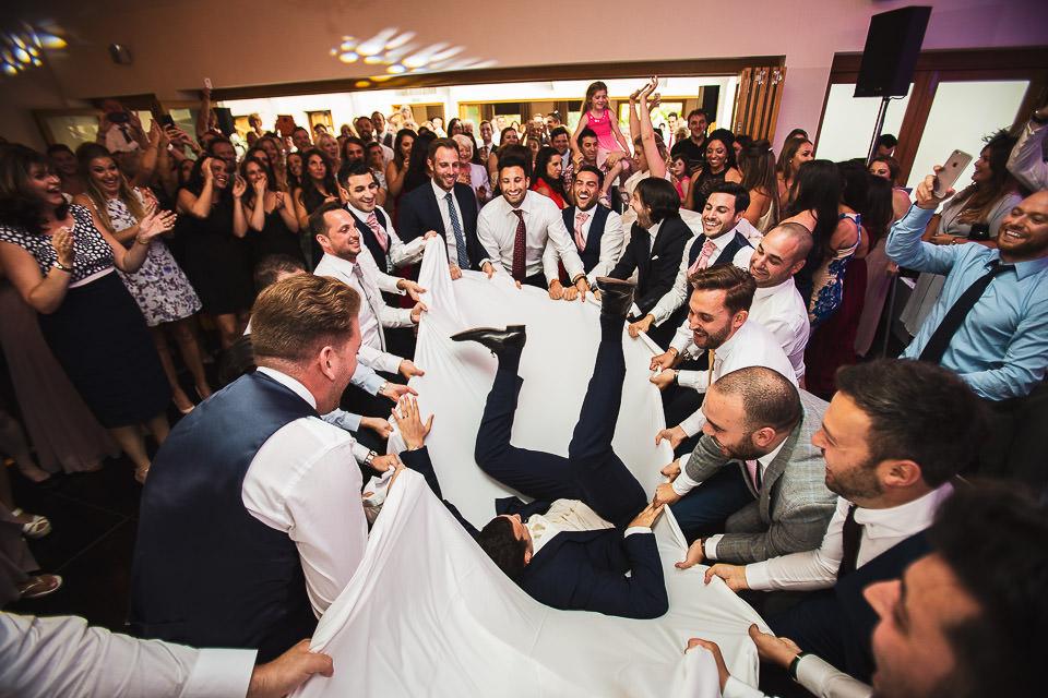 Jewish wedding party dancing