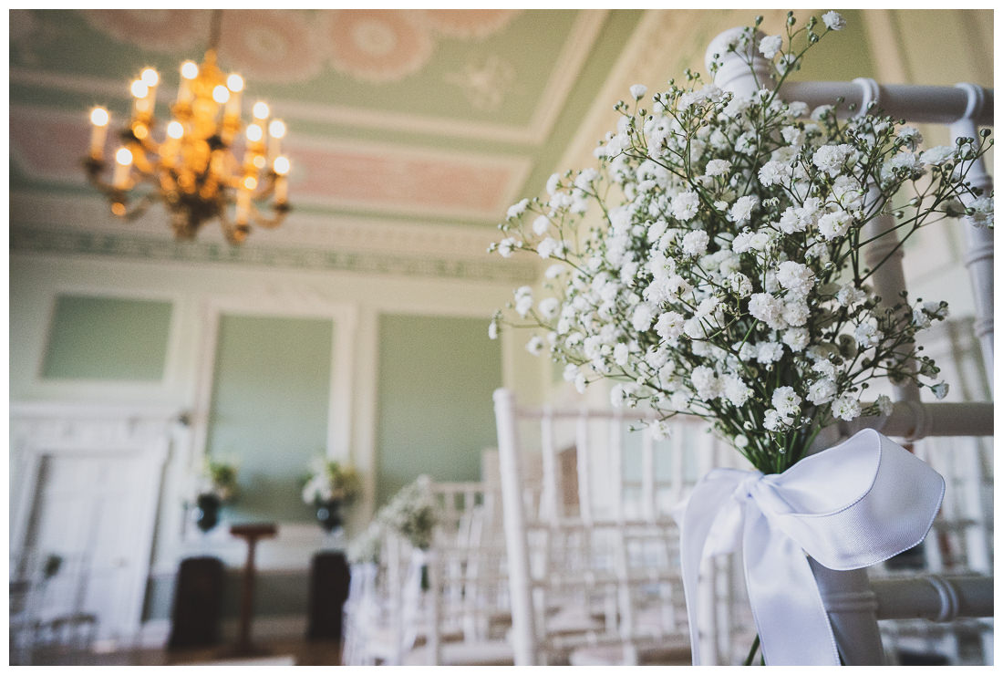 Botleys Mansion ceremony room flowers