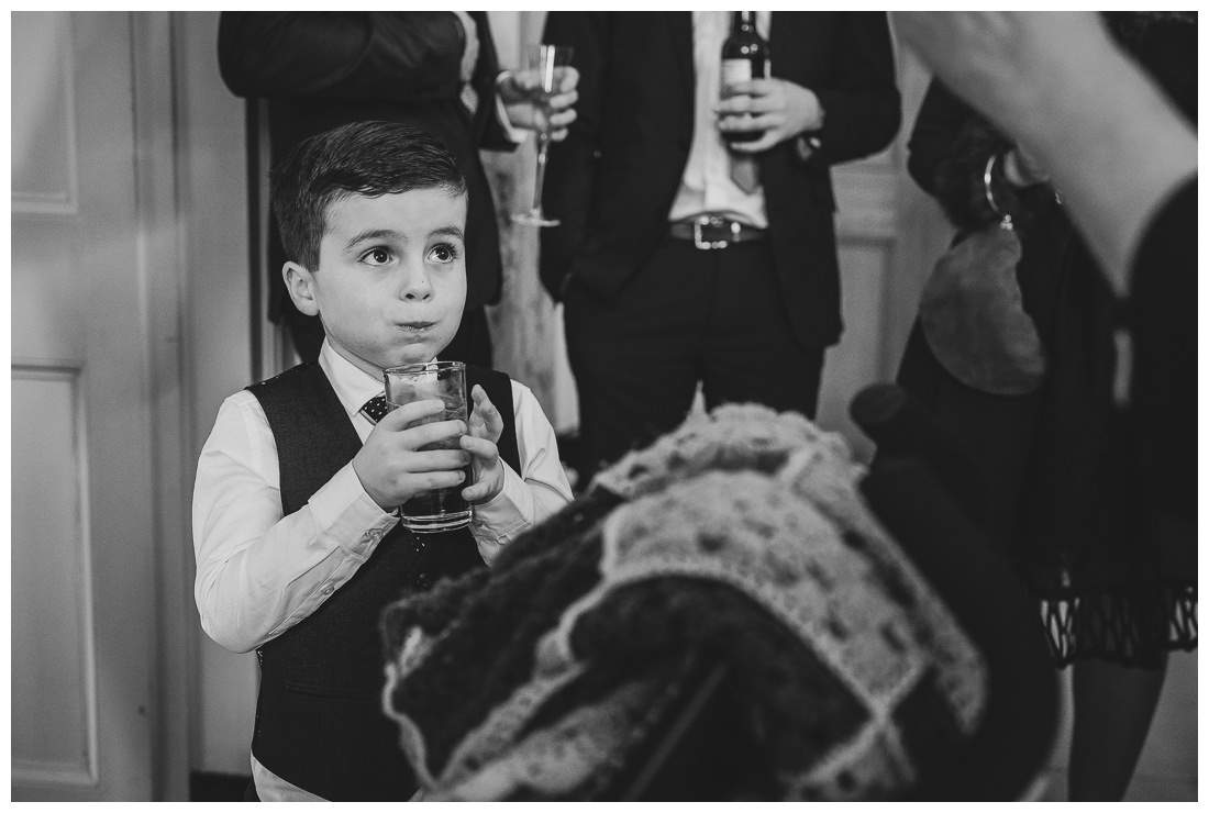 Pageboy before the ceremony