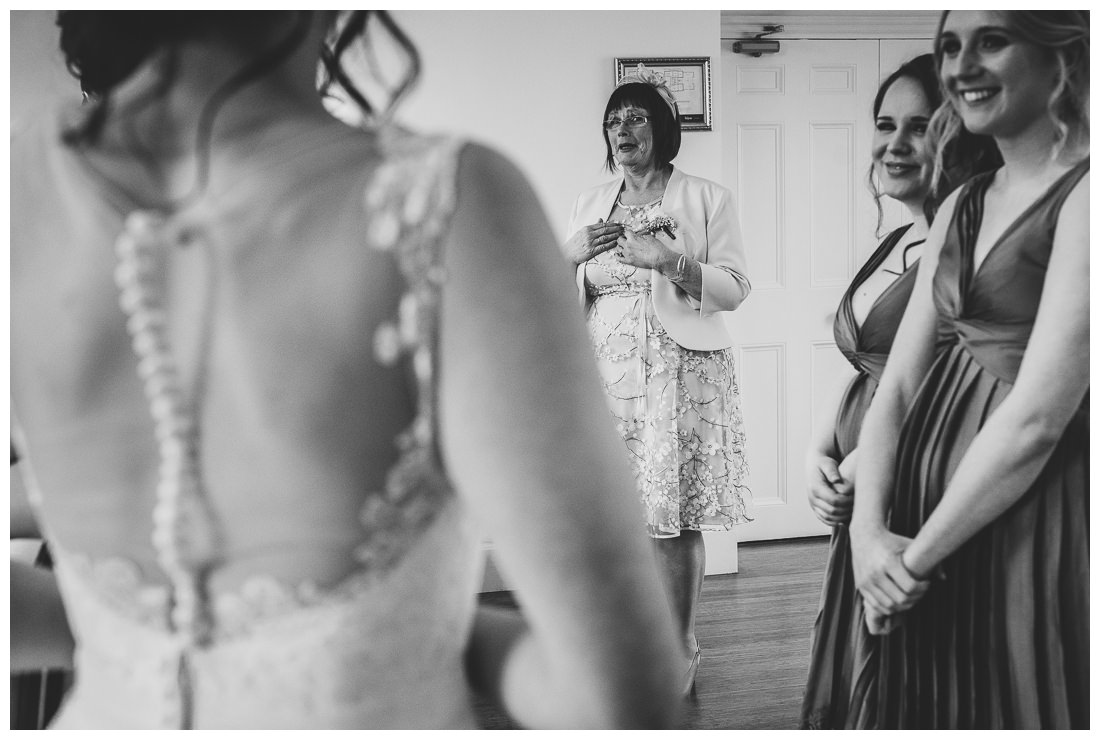 Reaction of the Bride's mum