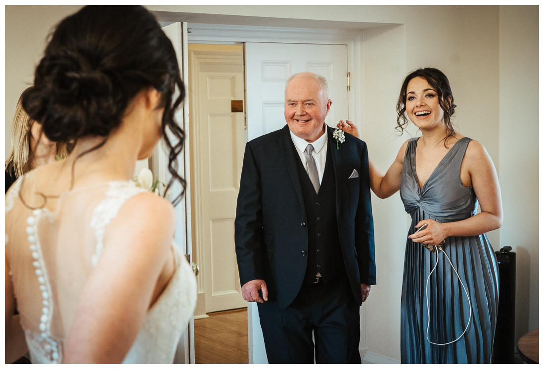 Father of the Bride's reaction