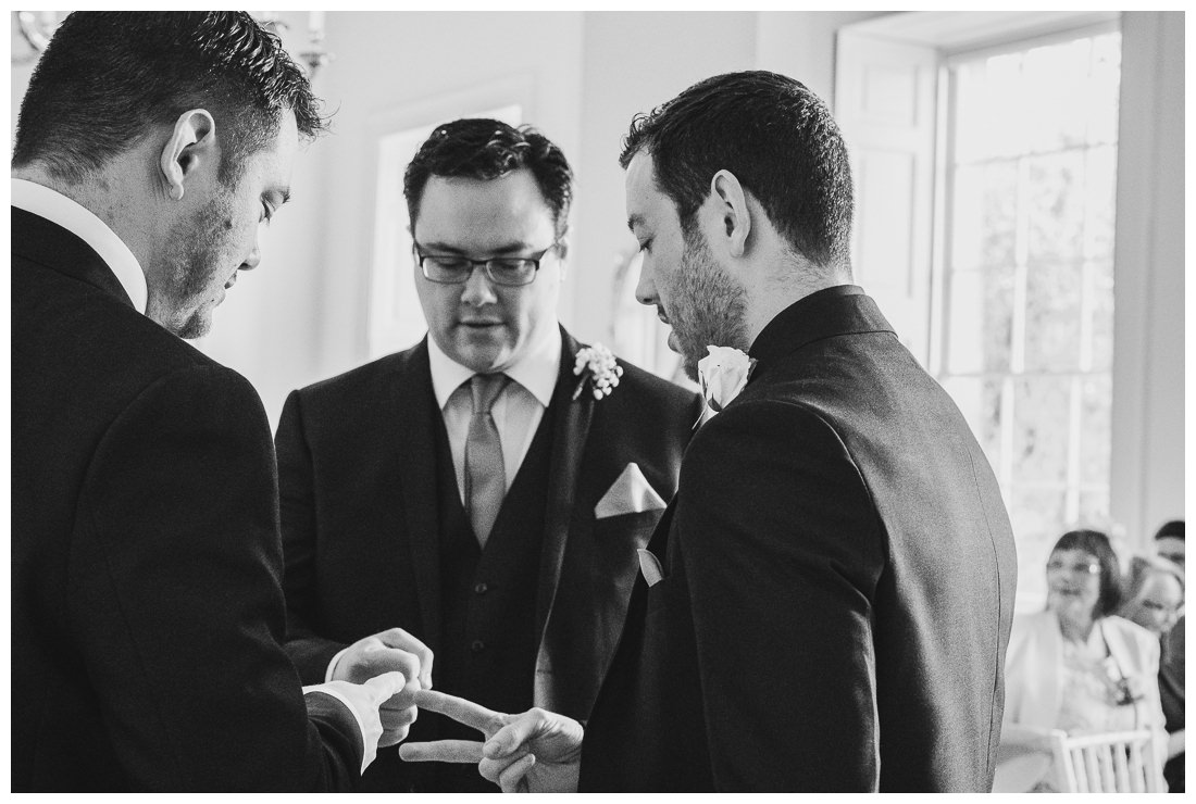Rock Paper Scissors before the ceremony