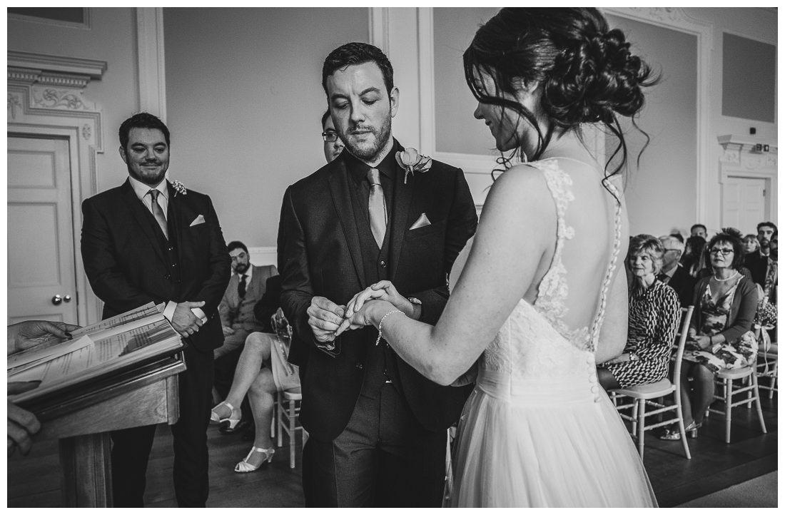 Wedding rings at Botleys Mansion