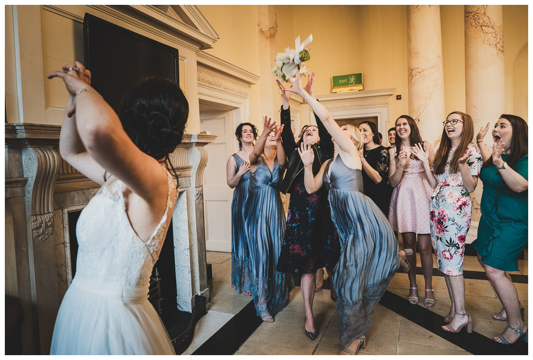 Throwing the bouquet at Botleys Mansion