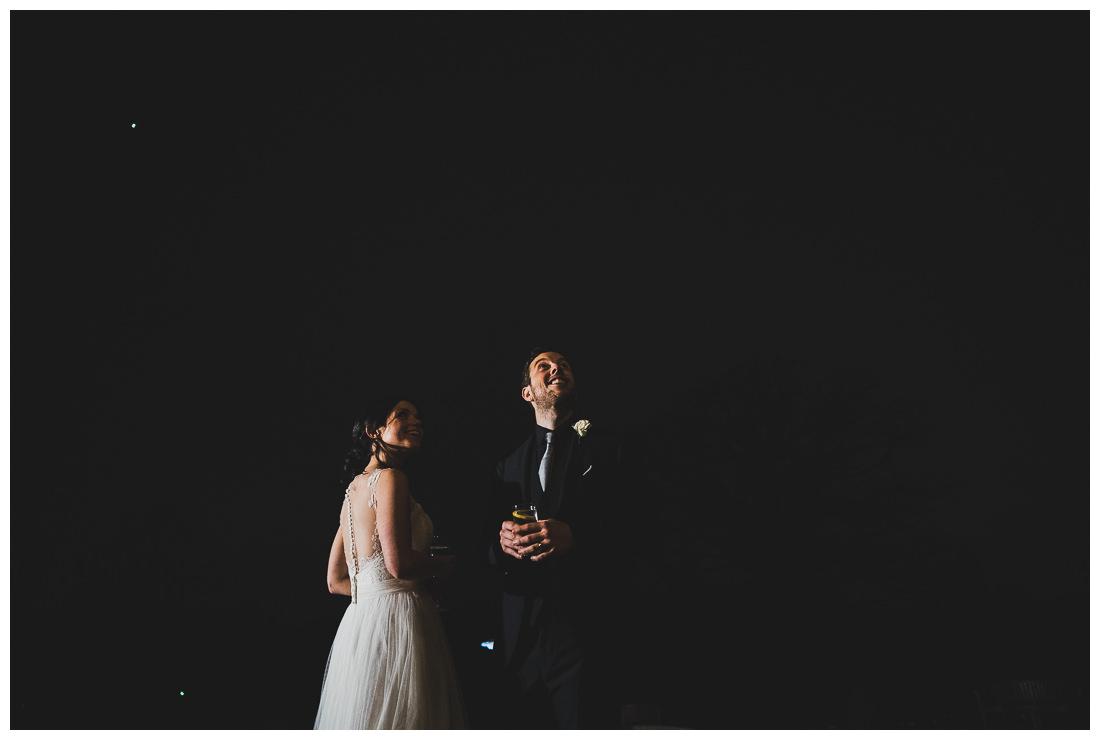 Botleys Mansion wedding couple night shot