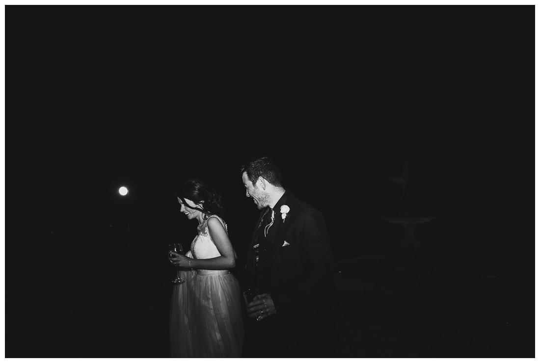 Night shot posed couple
