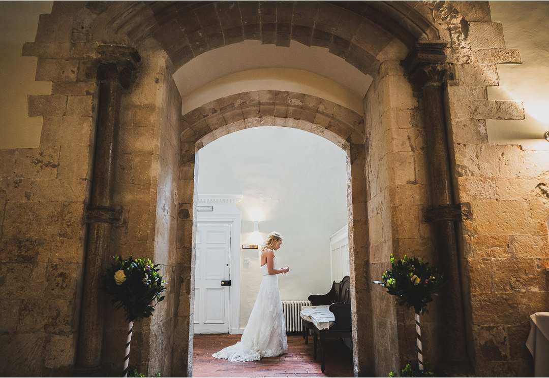 The Bride in an archway