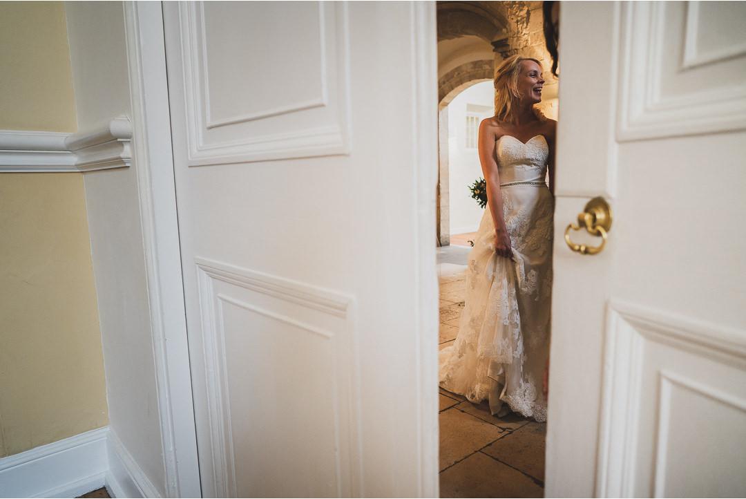 The Bride through the doorway