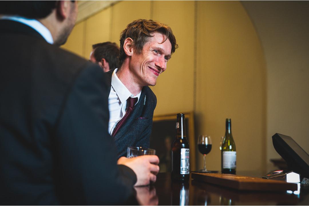 Wedding guest at Farnham Castle